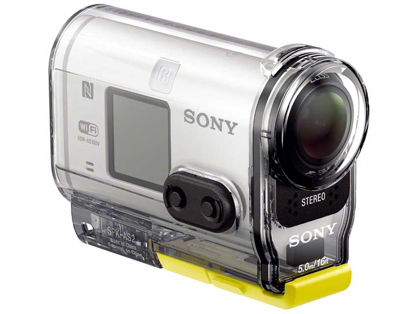 ces 2014 sony hdr as 100 action cam mit xavc s und. Black Bedroom Furniture Sets. Home Design Ideas