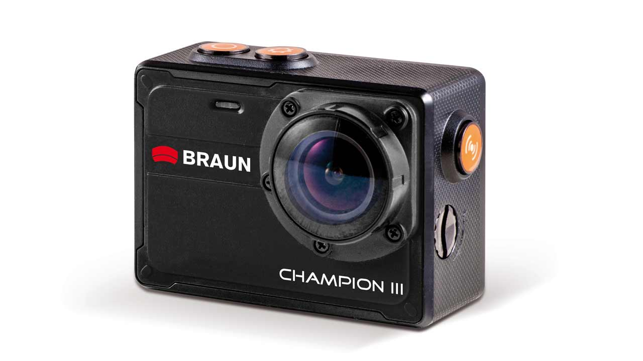 braun champion iii wasserdichte 4k actioncam. Black Bedroom Furniture Sets. Home Design Ideas