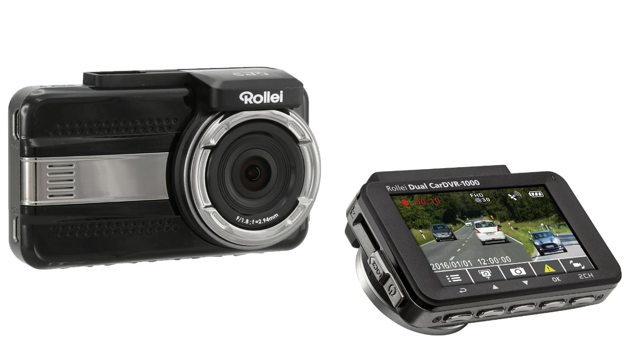 ifa 2016 rollei dual cardvr 1000 dashcam mit r ckfahrkamera. Black Bedroom Furniture Sets. Home Design Ideas