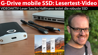 G-Technology G-Drive mobile SSD: Lesertest-Video von Sascha Halfmann