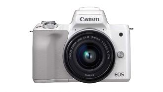 Canon 19 EOS M50 WH The Front EF M15 45 STM