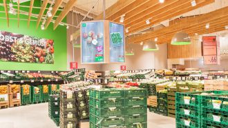 Easescreen Obst Gemuese mit Digital Signage