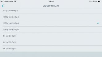 Shure motiv Video iPhone App Ton