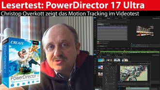 CyberLink PowerDirector 17 Ultra: Schnittsoftware im Test - Motion-Tracking ausprobiert