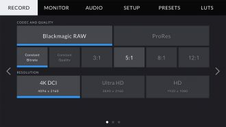 Blackmagic Pocket Cinema Camera 4K UI