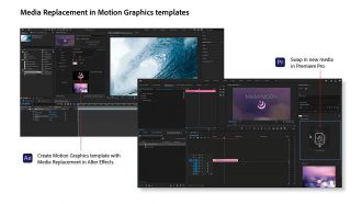After Effects and Premiere Pro Media Replacement Illustration web