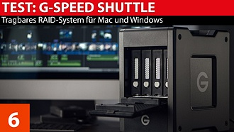 Speicherstrategie: G-Technology G-Speed Shuttle - tragbares Raid-System im Test