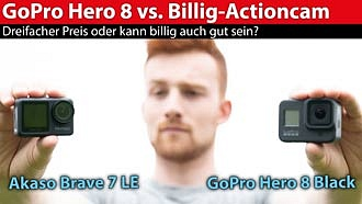 Hero 8 Black versus Akaso Brave 7 LE: China-Actioncam fordert GoPro heraus