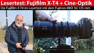 Fujifilm X-T4 mit MKX-Cine-Optik: die Systemkamera im Lesertest-Video