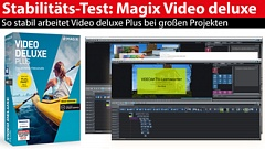 Software-Stabilitätstest: mit Magix Video deluxe Plus